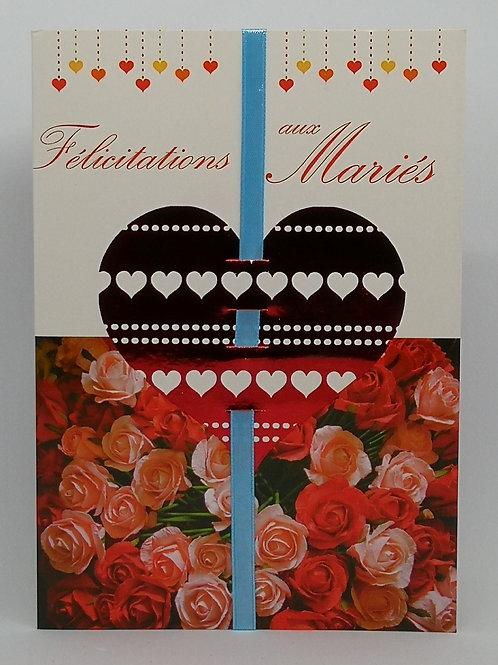 Carte de mariage coeur 04
