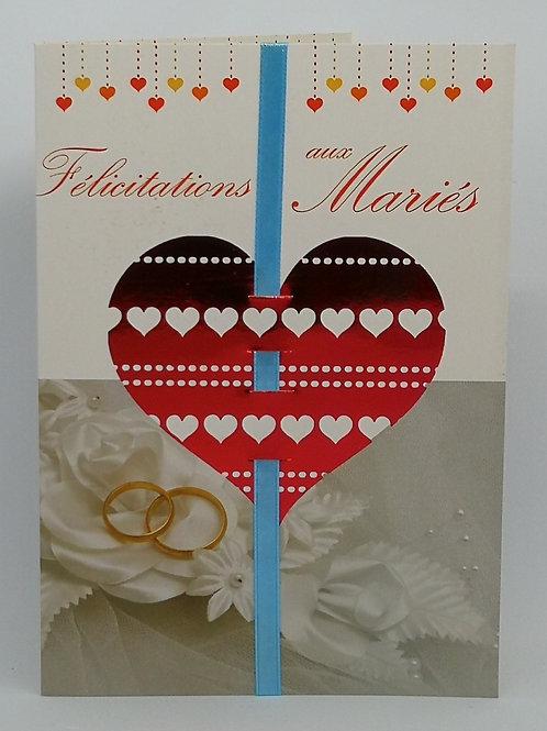 Carte de mariage coeur 02