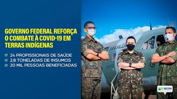 GOVERNO FEDERAL REFORÇA O COMBATE À COVID-19 EM TERRAS INDÍGENAS