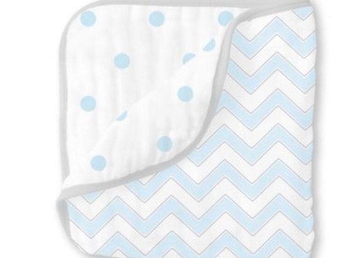 Cobertor zig-zag/dots