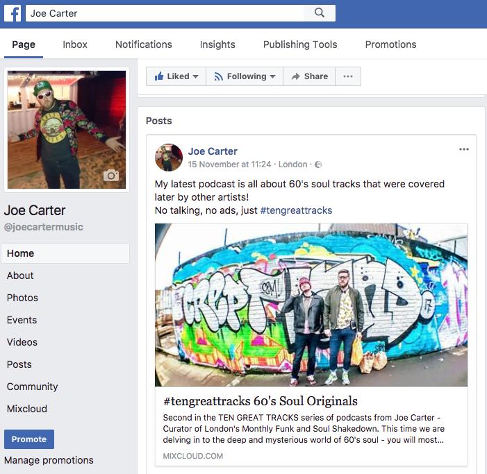 My Facebook Page (@joecartermusic)