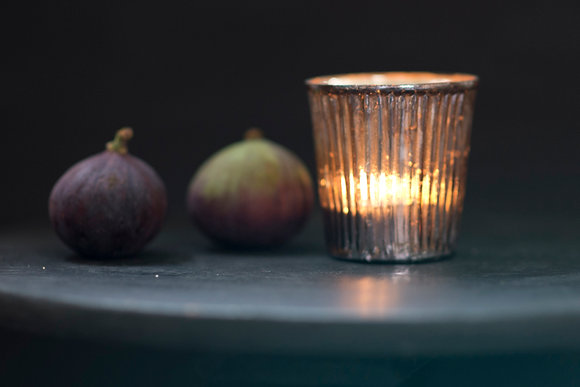 Small Pewter Pleated Votive