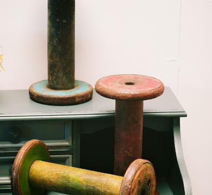 Large vintage Wooden Spool