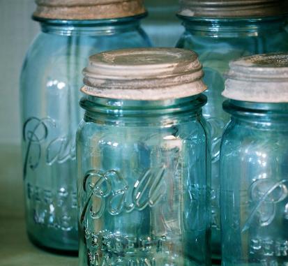 Large Vintage 'Ball' Mason Jar
