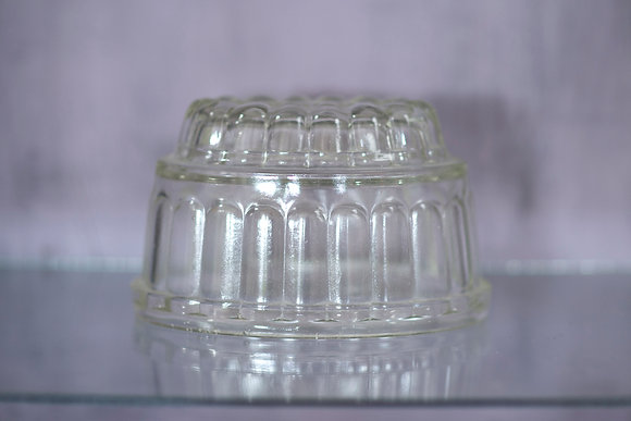 Vintage Glass Pint Jelly Mould