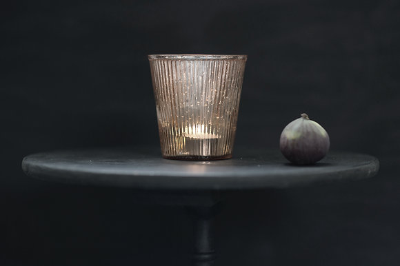 Large Pewter Pleated Votive