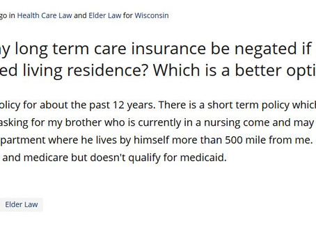 Q&A Series: Will My Long Term Care Policy Be Negated if I Move Into an Assisted Living Facility?