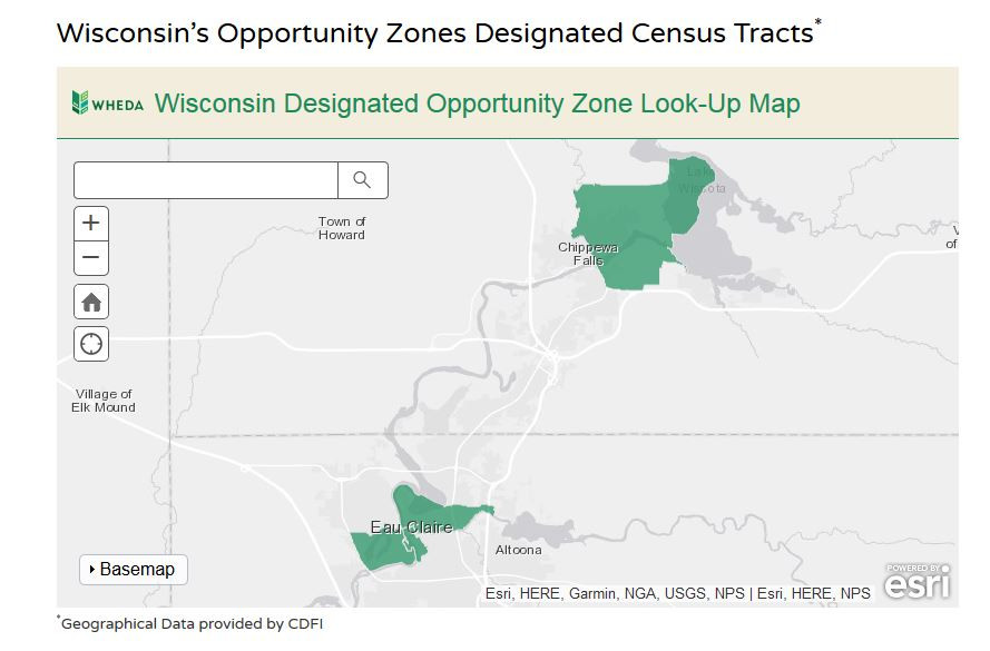 Opportunity Zones in Eau Claire Wisconsin