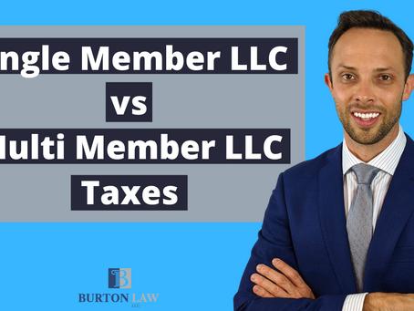 Single Member LLC vs Multi Member LLC Taxes