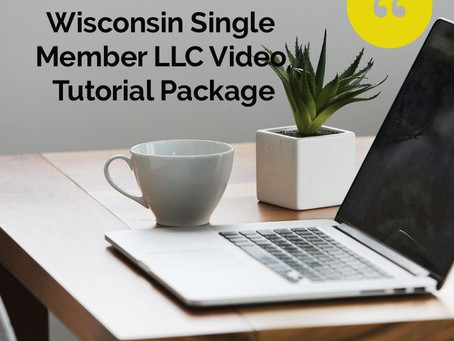 BRAND NEW--Form Your Own Wisconsin Single Member LLC Video Tutorial Package