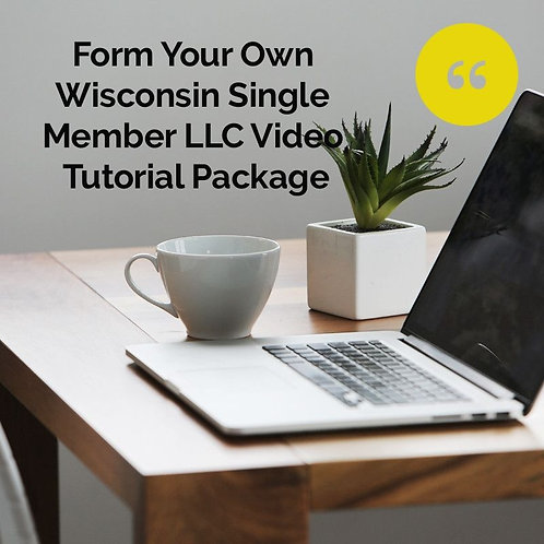 Form Your Own Single Member LLC Video Tutorial Package