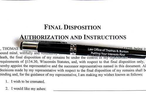 Final Disposition Authorization & Instructions