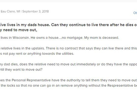 Q&A Series: How Long Can Relative Live in House After Death of Owner?