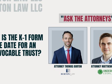 What is the K-1 Form Due Date for an Irrevocable Trust?