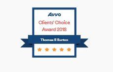 Attorney Thomas B. Burton Earns Avvo Clients' Choice Award for 2018