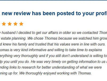 New 5 Star Review for Law Office of Thomas B. Burton