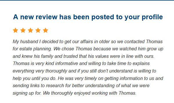 5 Star Review for Attorney Thomas B. Burton