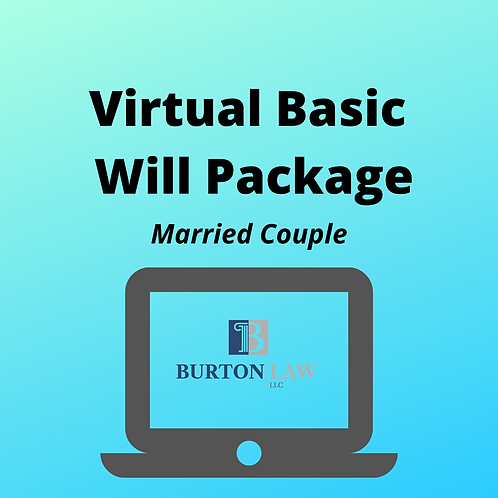 Virtual Basic Will Package for Married Couple--Flat Fee