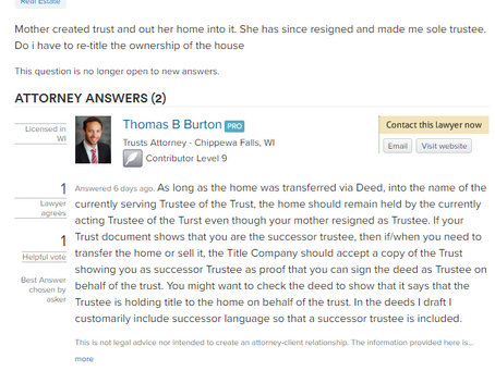 Q&A: Do I Have to do Something With Real Estate the Previous Trustee put into the Trust?