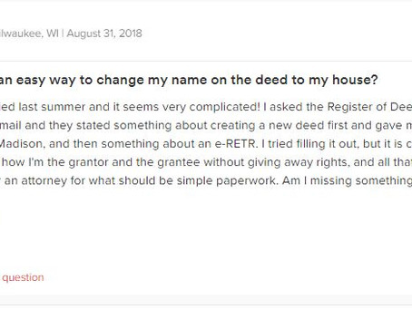 Q&A Series: Is there an easy way to change my name on the deed to my house?