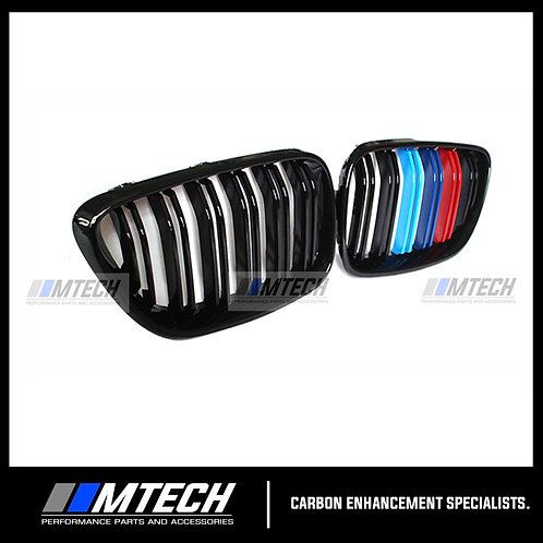 GLOSS BLACK TRI-COLOUR FRONT GRILL BMW 2 SERIES F22 220i 228i 230i M235i M240i