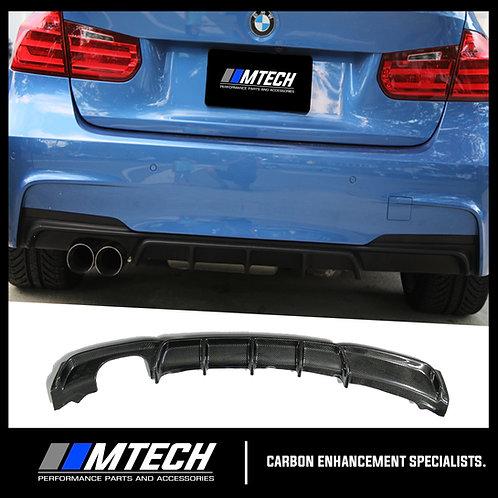 MTECH CARBON FIBRE REAR DIFFUSER SINGLE OUTLET FOR BMW 3 SERIES F30 F31