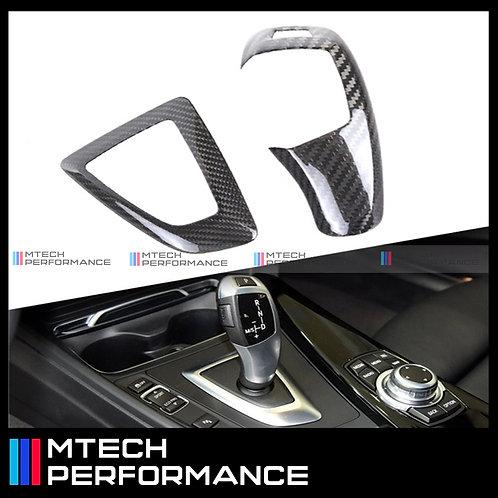 MTECH CARBON FIBRE GEAR KNOB & SHIFT SURROUND BMW 1 2 3 4 SERIES F2X F3X SERIES