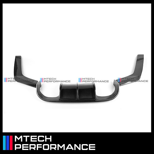 MTECH V-STYLE CARBON FIBRE REAR DIFFUSER BUMPER FOR BMW M3 M4 F80 F82 F83