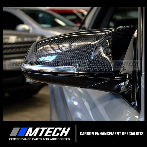 MTECH BMW F20 F22 F30 F32 M4 STYLE CARBON FIBRE REPLACEMENT MIRROR COVERS