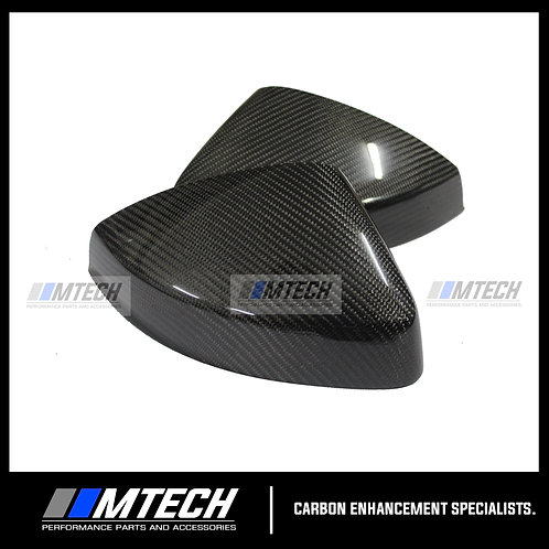 MTECH CARBON FIBRE REPLACEMENT MIRROR COVERS W/SIDE ASSIST FOR AUDI A3 8V