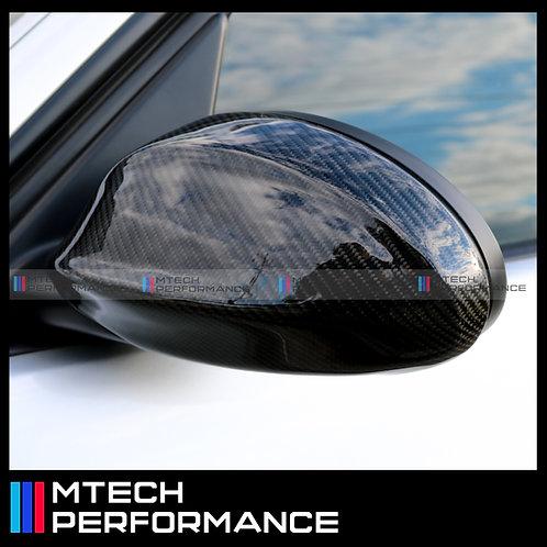CARBON FIBRE REPLACEMENT MIRROR COVERS CAPS FOR BMW 3 SERIES E90 05'-08' Pre-LCI