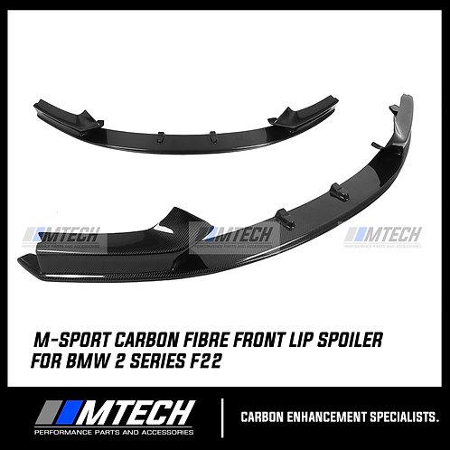 CARBON FIBRE FRONT LIP SPOILER SPLITTER M-STYLE FOR BMW 2 SERIES F22 F21