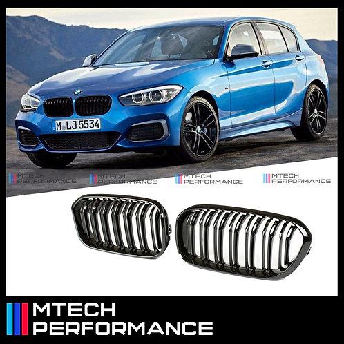MTECH BMW 1 SERIES F20/F21 LCI DUAL SLAT GLOSS BLACK FRONT GRILL