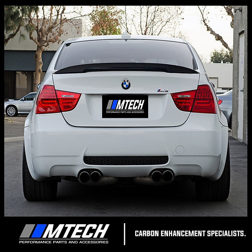 MTECH BMW E90/M3 SEDAN PERFORMANCE STYLE CARBON FIBRE REAR LIP SPOILER