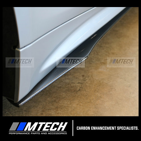 CARBON FIBRE V-STYLE SIDE SKIRTS FOR BMW 2 SERIES F22 F23 F87 M2 M235i M240i