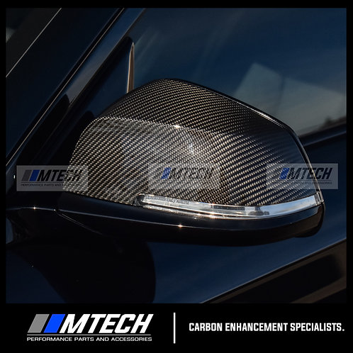 MTECH CARBON FIBRE REPLACEMENT MIRROR COVERS FOR BMW 1 2 3 4 SERIES