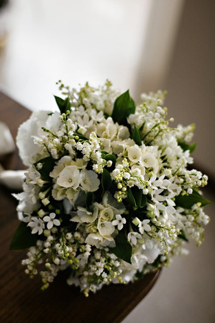 bouquet sposa mughetti ortensia, bovardi