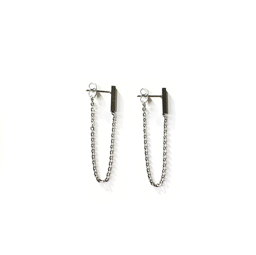 earrings buy asymmetric online in silver long pakistan crystal chain