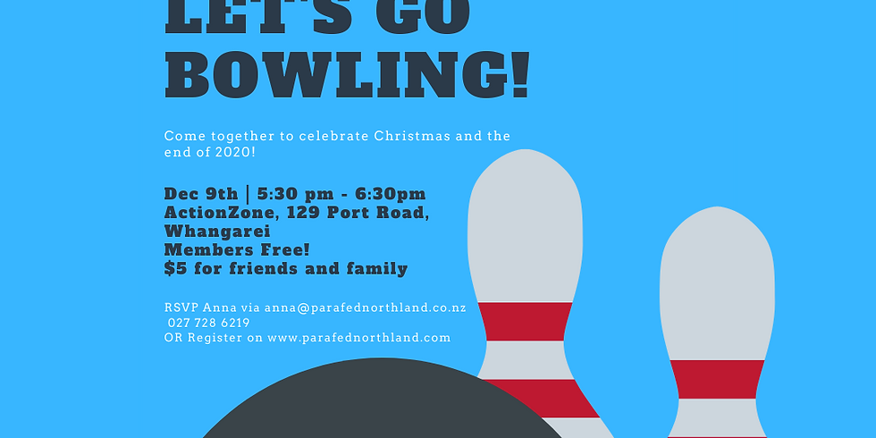 Parafed Northland Christmas Party- Ten Pin Bowling