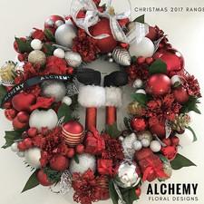 Executive wreath - Santa's Legs $75