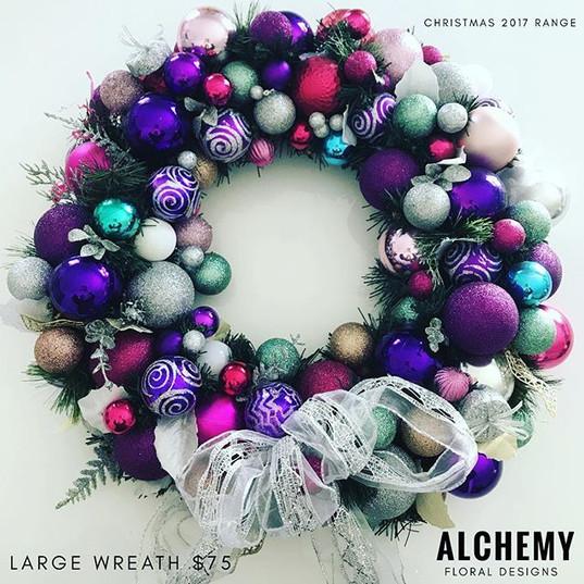 Large Purple tone Wreath (Appx 60cm) $75