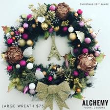Rose Gold Eiffel Tower- large wreath (ap
