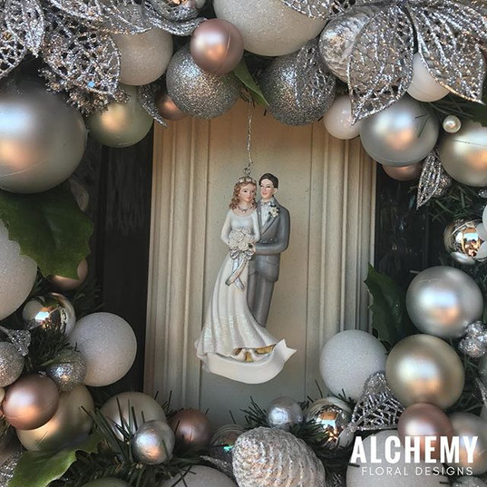 Newlywed Wreath $85 including the ornate