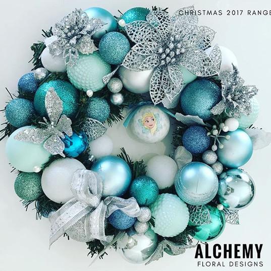 Snow queen coloured wreath $45 inc free