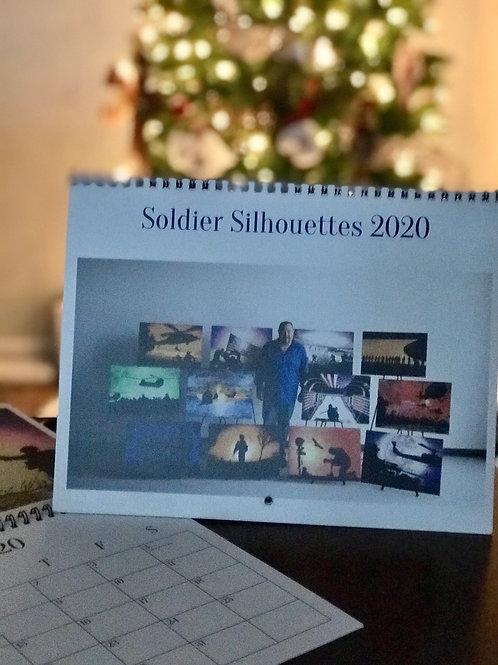 Soldier Silhouettes 2020 Calendar