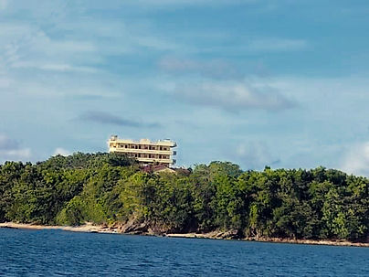 Angelica Paradise Beach and Resort. Hotel from San Miguel Bay. Secluded Beach in Siruma Camarines Sur Philippines