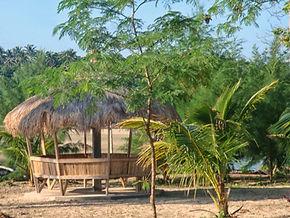 Angelica Paradise Beach and Resort beachfront Cabana. Secluded beach resort in Siruma Camarines Sur Philippines