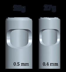 גודל כלי ניתוח ויטרקטומי