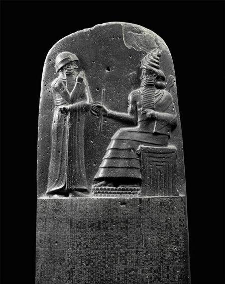 מצבת האבן בה חקוקה חוקת חמורבי
