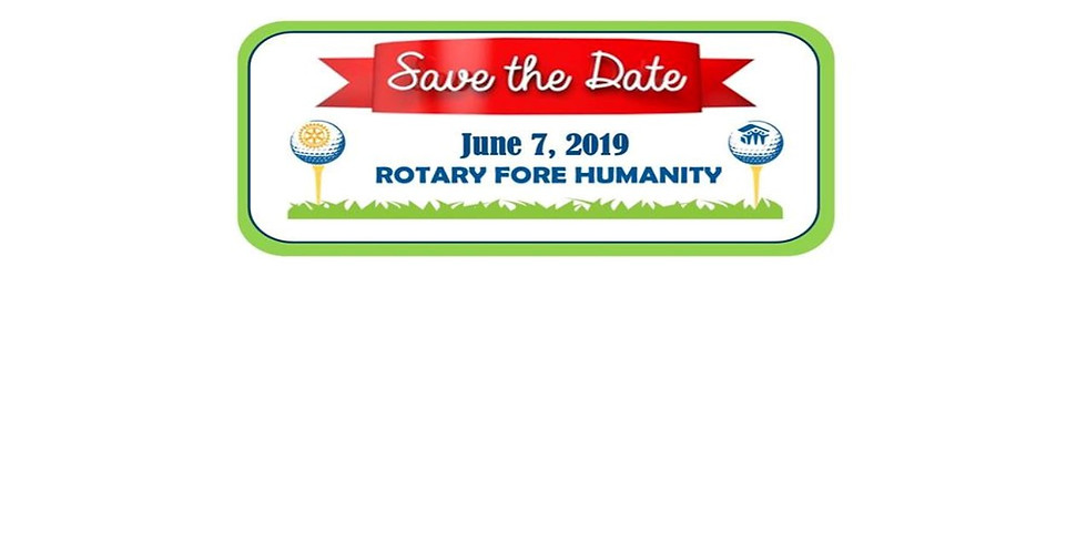 Rotary Fore Humanity Golf Tournament